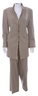 Louis Feraud Feraud Wool Silk Blend NWT $1525 2PC Pant Suit Size 14