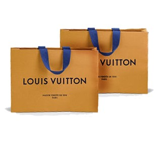 Louis Vuitton 2 small medium shopper/gift bags