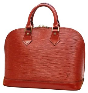 Louis Vuitton Alma Rare Lv Leather Satchel in Red