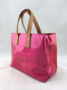 Louis Vuitton Framboise Monogram Vernis Reade Pm Tote in Pink