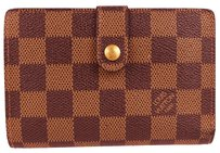 Louis Vuitton Auth LOUIS VUITTON Viennois Bifold Wallet Purse Damier Leather N61674 01C500
