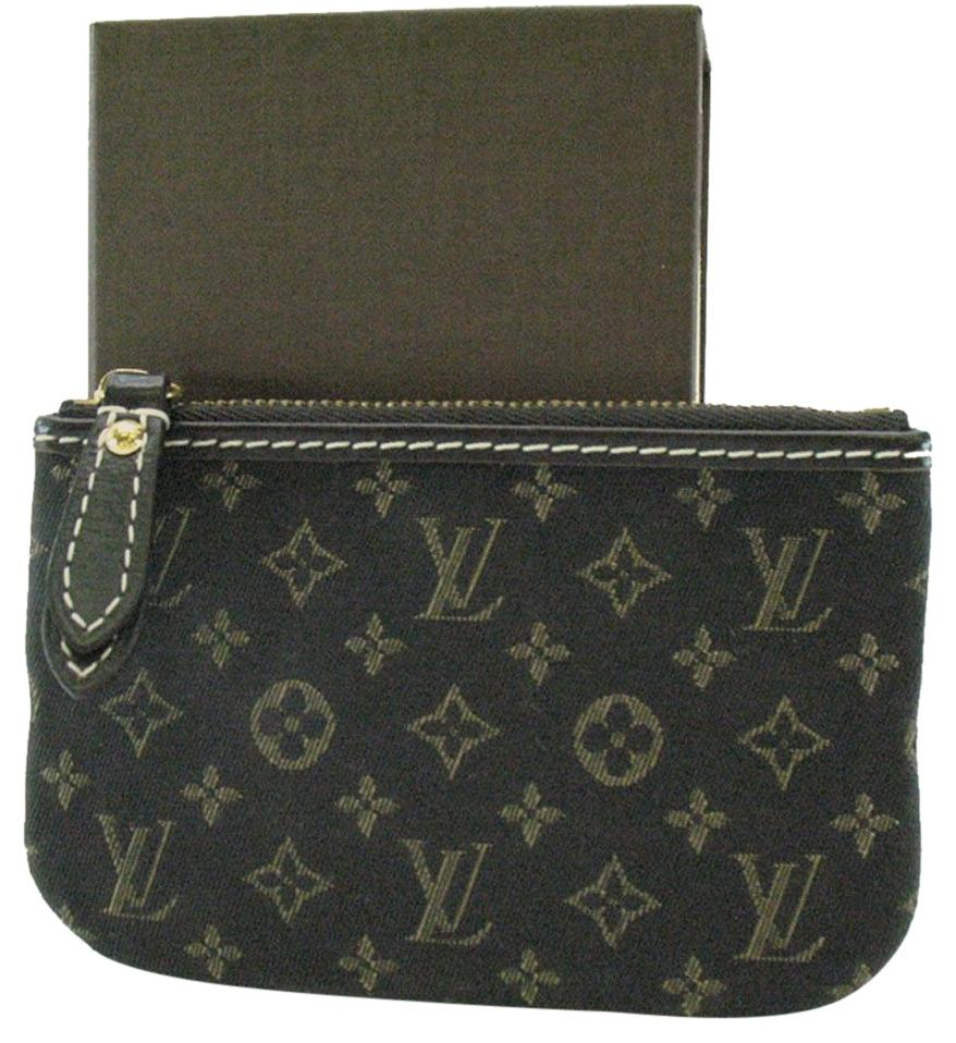 louis vuitton used bags. louis vuitton authentic fusain monogram idylle pochette cles change purse/wallet used bags r