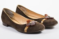 Louis Vuitton Tan Suede Brown Flats