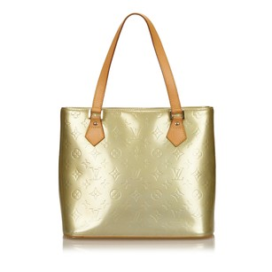 Louis Vuitton Beige Brown Leather Tote