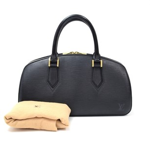 Louis Vuitton Black Leather Shoulder Bag