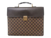 Louis Vuitton Briefcase Leather N53315 Brown Travel Bag
