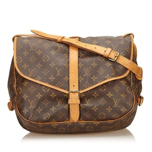 Louis Vuitton Brown Canvas Monogram Canvas 6klvsh006 Shoulder Bag