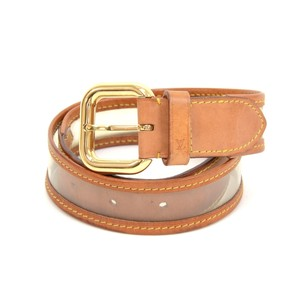 Louis Vuitton Louis Vuitton Clear Vinyl x Brown Cowhide Leather Belt Size 80 LL283