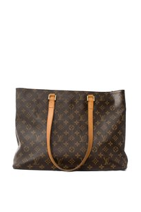 Louis Vuitton Canvas Leather Suede Tote in Monogram
