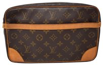 Louis Vuitton Canvas Monogram Brown Clutch