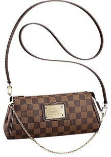 Louis Vuitton Damier Canvas Eva Clutch Cross Body Bag