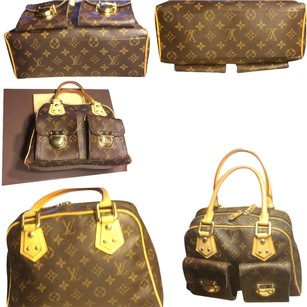 Louis Vuitton Flap Over Pockets Satchel in Brown