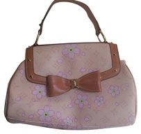 Louis Vuitton Floral Studs Bow Marc Jacobs Satchel in Cherry Blossom