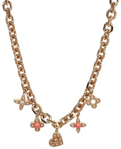 Louis Vuitton Goldtone Monogram Hide and Seek Necklace