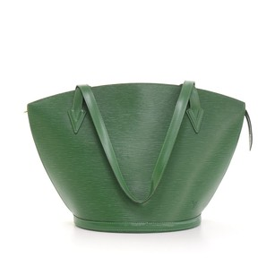 Louis Vuitton Green Leather Tote