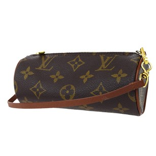 Louis Vuitton Hand Monogram Leather Brown Clutch