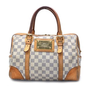 Louis Vuitton Hand N52001 Berkeley Satchel in White