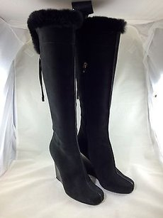 Louis Vuitton Knee High Black Boots