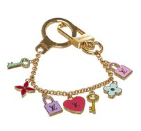 Louis Vuitton Louis Vuitton Gold Multicolor Charms Keyring Chain Purse Charm