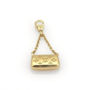 Louis Vuitton Louis Vuitton De Monogram 18k Yellow Gold Clutch Purse Charm Pendant