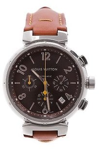 Louis Vuitton Louis Vuitton Stainless Steel Tambour Chronograph Automatic Watch