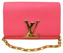 Louis Vuitton Lv Chain Medium Pink Clutch