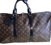 Louis Vuitton Lv Keepall 55 Bandouliere Monogram Travel Brown Travel Bag