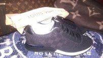 Louis Vuitton Mens Sneakers Black Athletic