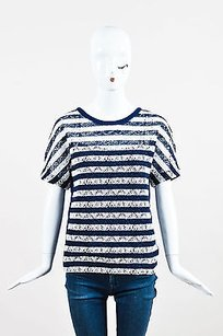 Louis Vuitton Navy White T Shirt Multi-Color