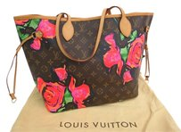Louis Vuitton Neverfull Mm Tote in Monogram Rose