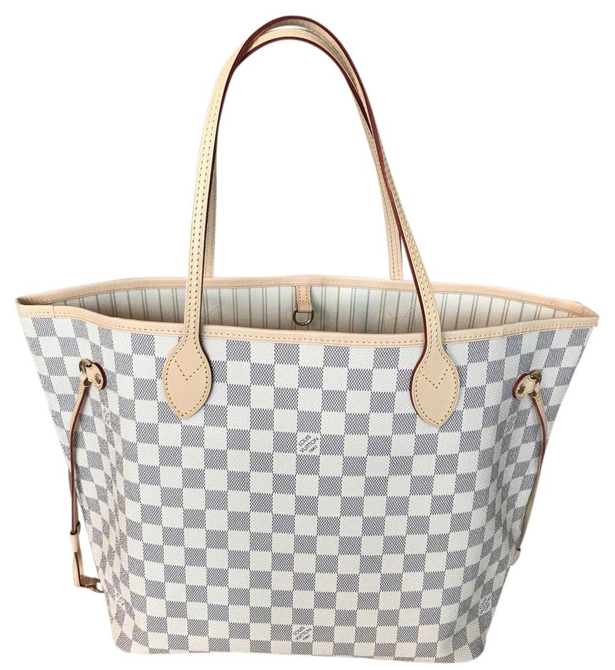 louis vuitton neverfull white. louis vuitton neverfull st nevderful mm gm pm tote in damier azur white
