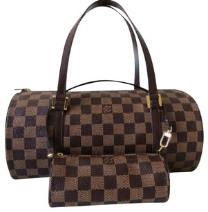 Louis Vuitton Papillon Speedy Azur Gift Mother's Day Satchel in Dark Brown