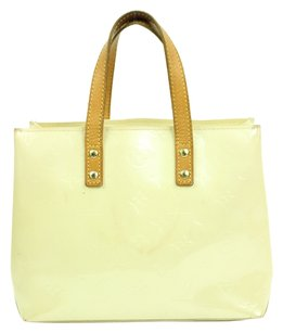 Louis Vuitton Pearl Vernis Verrnis Monogram Satchel in Off White