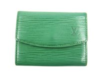 Louis Vuitton Porte-Monnaie Simple Epi Coated Leather Coin Purse Wallet w/ Box