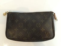 Louis Vuitton Pouch Monogrammed Brown Clutch