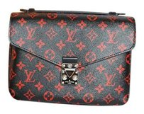 Louis Vuitton Red/black Monogram Pochette Metis 2017 Cross Body Bag