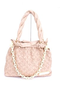 Louis Vuitton Kelis Olympe Stratus Ecru Leather Embroidered Monogram Satchel in Beige