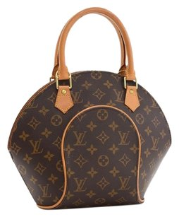 Louis Vuitton Ellipse Monogram Handbag Satchel in Brown