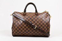 Louis Vuitton Ebene Coated Canvas Damier Speedy Bandoliere 35cm Satchel in Brown