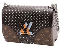 Louis Vuitton Monogram Canvas Satchel in Brown, black