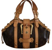Louis Vuitton Satchel in Brown/beige