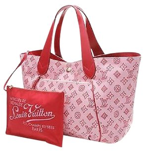 Louis Vuitton Red Satchel in Pink, red