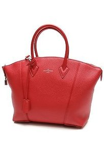 Louis Vuitton Taurillon Satchel in Rubis (red)