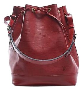 Louis Vuitton Castilian Red Epi Leather Noe Shoulder Bag