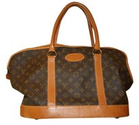 Louis Vuitton Vintage Exclusive Classic LV Logo Brown with Tan Travel Bag