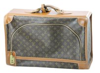 Louis Vuitton Vintage Suitcase Collector Tan and Brown Monogram Travel Bag