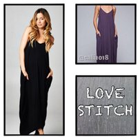 Black Maxi Dress by Love Stitch