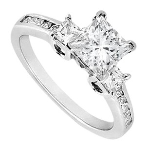 LoveBrightJewelry 1 Carat Engagement Ring of Cubic Zirconia in 14K White Gold
