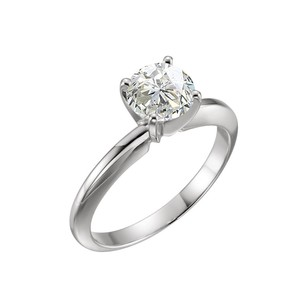 LoveBrightJewelry 1.55 CT Certified Diamond Solitaire Engagement Ring in 14K White Gold
