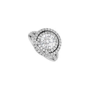 LoveBrightJewelry 2 Carat Cubic Zirconia Engagement Ring In Sterling Silver Setting